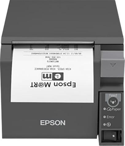 Epson TM-T70II, pokladní tiskárna, serial+USB, zdroj, tmavá