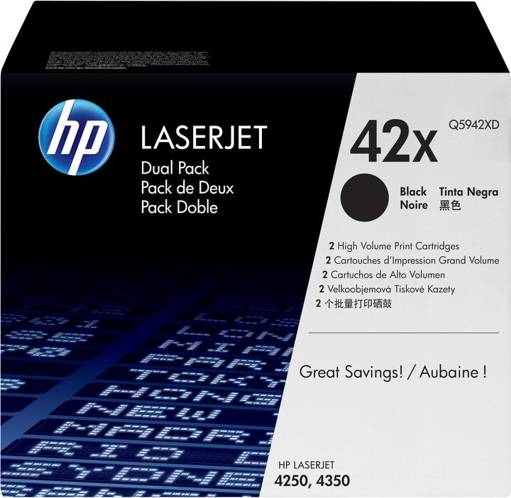 HP Q5942XD, black, 2-pack
