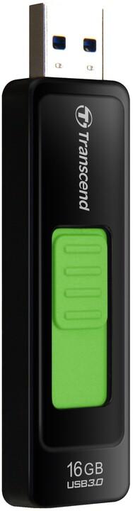 Transcend JetFlash 760 16GB, černo-zelený