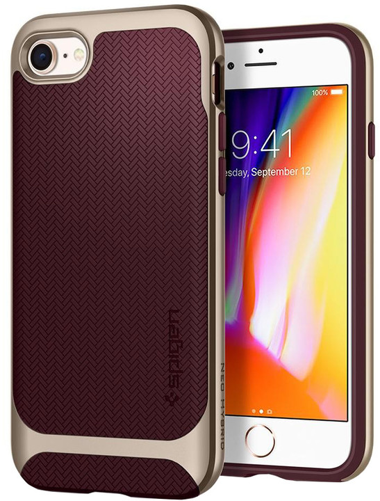 Spigen Neo Hybrid Herringbone iPhone 7/8, burgundy