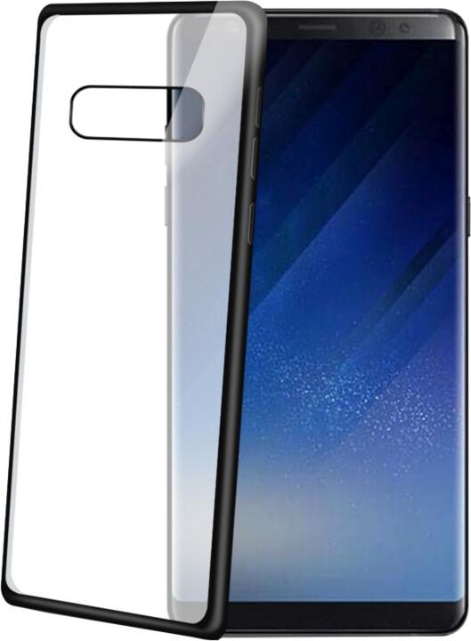 CELLY Laser TPU pouzdro - lemování s matným kovovým efektem pro Samsung Galaxy Note 8, černé