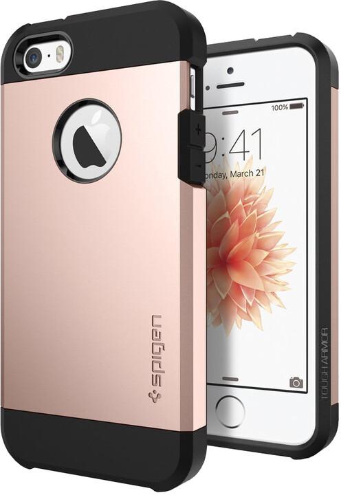 Spigen Tough Armor kryt pro iPhone SE/5s/5, růžová/zlatá