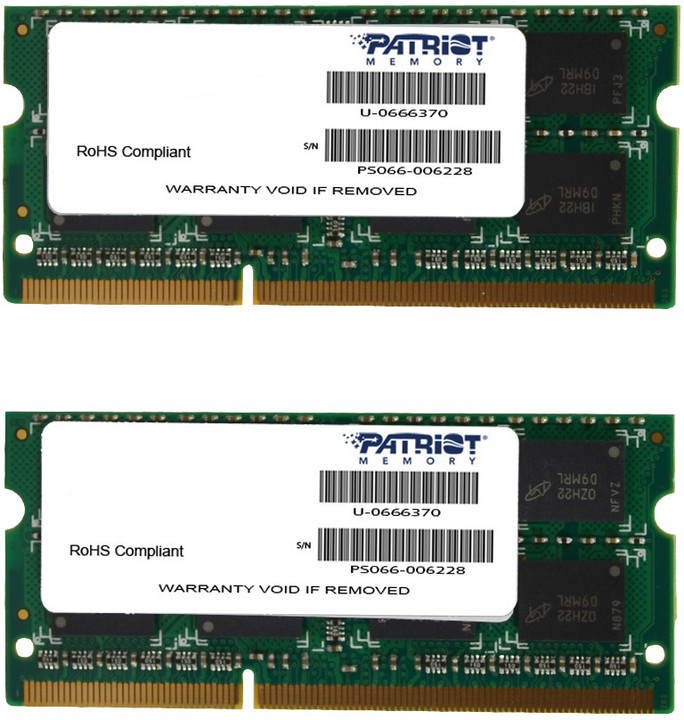 Patriot Mac Series Line 16GB (2x8GB) DDR3 1333 SODIMM