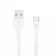Promate kabel PowerBeam-C USB-C - USB-A, 2A, opletený, 1.2m, bílá