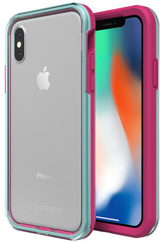 LifeProof SLAM ochranné pouzdro pro iPhone X průhledné - fialovo zelené