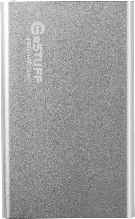 eSTUFF Powerbank 4.000 mAh, stříbrná