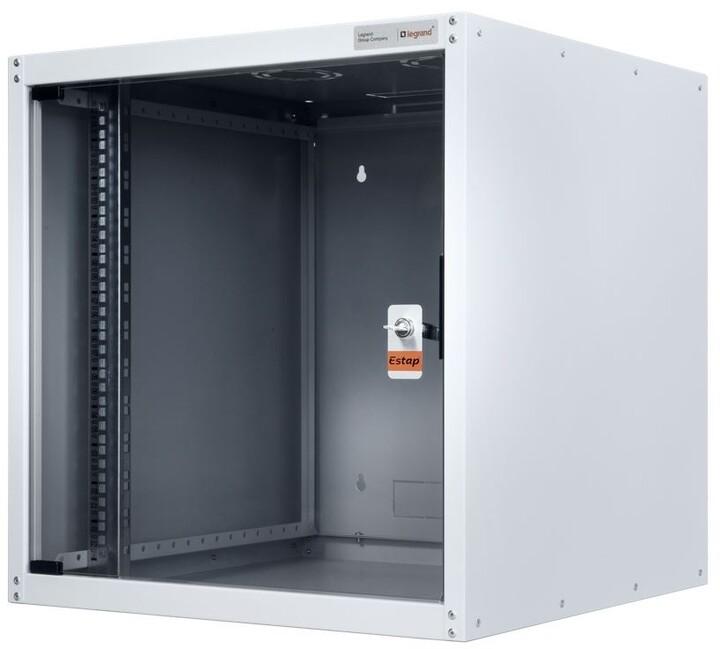 Legrand EvoLine nástěnný datový rozvaděč 7U, 600x600mm, 65kg, skleněné dveře