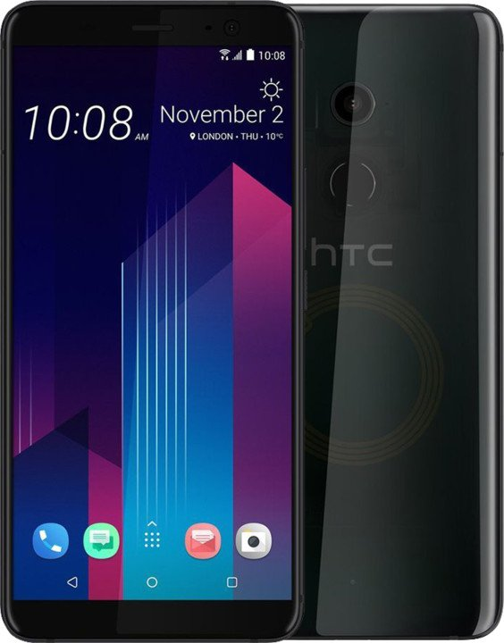 HTC U11+ -128GB, Dual SIM, Translucent Black