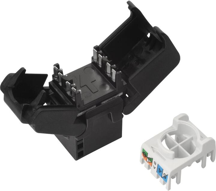 Solarix samořezný keystone CAT6 UTP RJ45 černý SXKJ-6-UTP-BK-SA