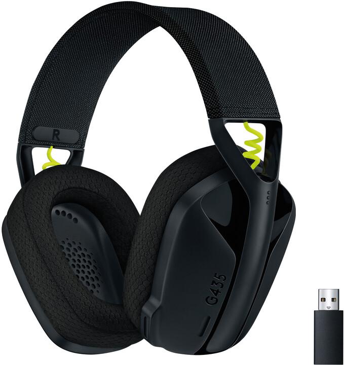 Logitech G435, černá