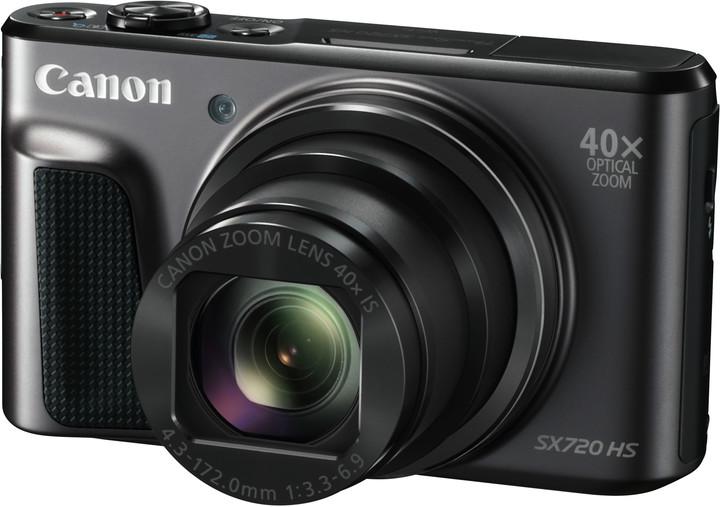 Canon PowerShot SX720 HS, černá - Travel kit