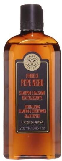 Erbario Toscano Černý pepř šampón a kondicionér 250 ml