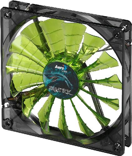 AeroCool Shark Fan, 140 mm, evil green