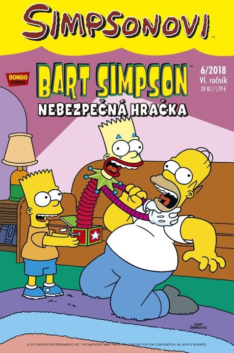 Komiks Bart Simpson: Nebezpečná hračka, 8/2018