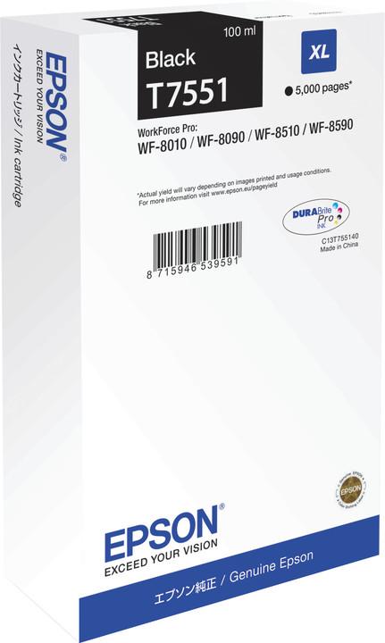 Epson C13T755140, černá XL