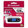 Transcend JetFlash 790 128GB, černo-modrá