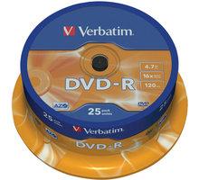 Verbatim DVD-R AZO 16x 4,7GB spindl 25ks - 43522