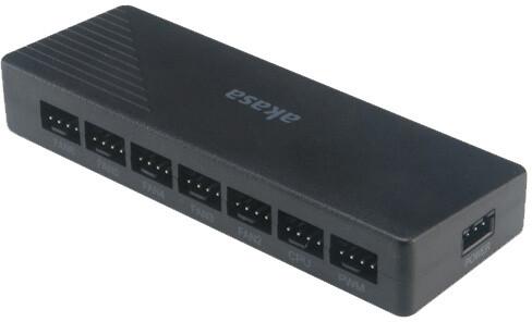 Akasa adresovatelný RGB LED ovladač (AK-MX246), černá