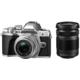 Olympus E-M10 Mark III + 14-42mm II R + 40-150mm R, stříbrná/stříbrná/černá  + Objektiv Olympus M. ZUIKO DIGITAL 45mm f/1.8, černá v ceně 8 499 Kč