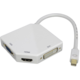 PremiumCord adaptér Mini DisplayPort - HDMI + DVI + VGA 1080p (4K over HDMI)
