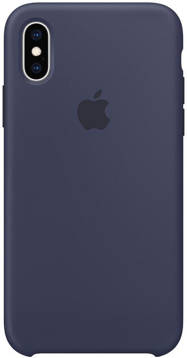 Apple silikonový kryt na iPhone XS, půlnočně modrá