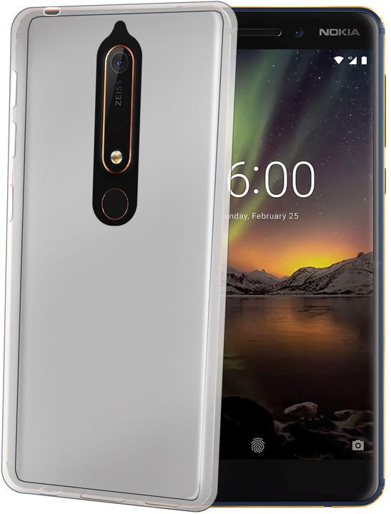 CELLY Gelskin TPU pouzdro pro Nokia 6 (2018), bezbarvé
