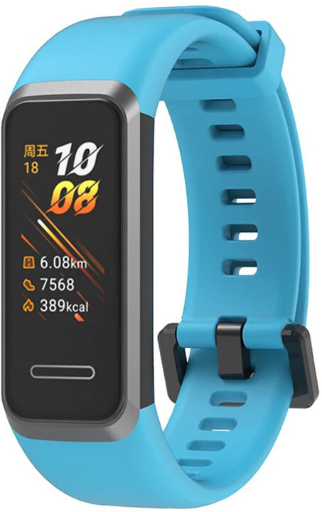 Tactical 445 silikonový řemínek pro Huawei Band 4, světle modrá