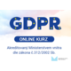Elektronický GDPR kurz v rozmezí 1-5 uživatelů