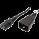 PremiumCord kabel síťový propojovací 230V 10A 1m, konektory IEC 320 C13 - IEC 320 C20