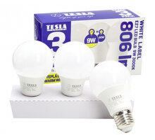 TESLA LED žárovka BULB E27, 9W, 3000K, teplá bílá, 3ks v balení - BL271030-3PACK