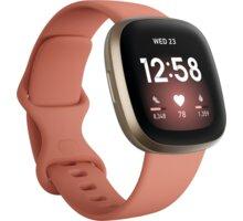 Fitbit Versa 3, Pink Clay Elektronické předplatné časopisů ForMen a Computer na půl roku v hodnotě 616 Kč