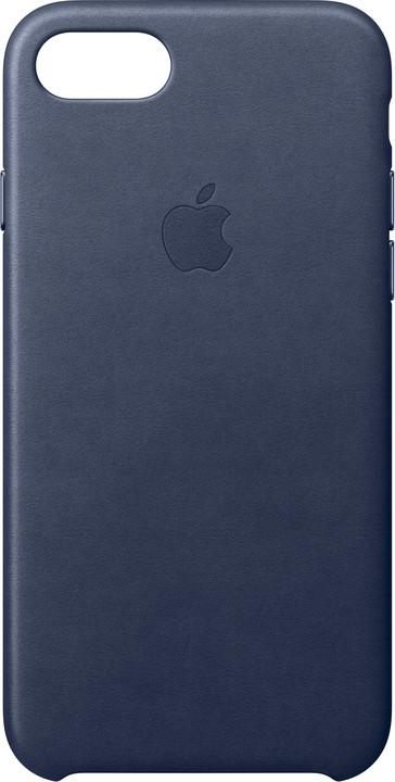 Apple Kožený kryt na iPhone 7 8 – půlnočně modrý MMY32ZM A  3381cb26138