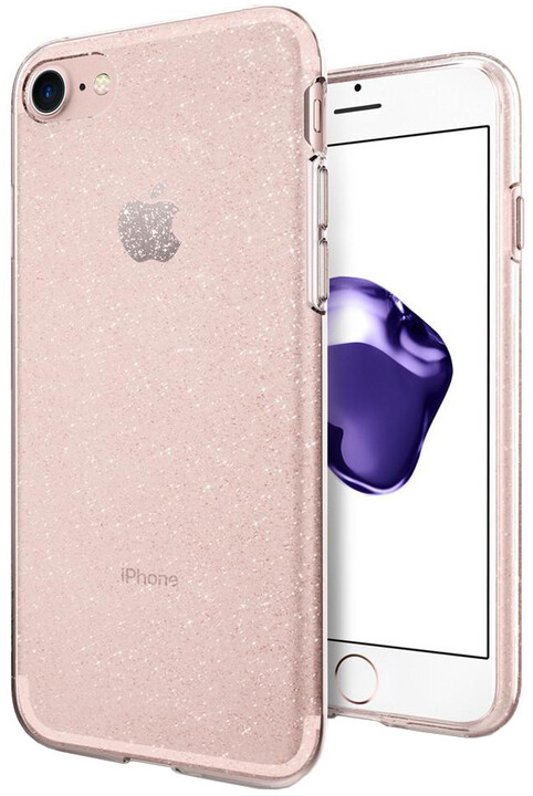 Spigen Liquid Crystal Glitter pro iPhone 7/8, rose