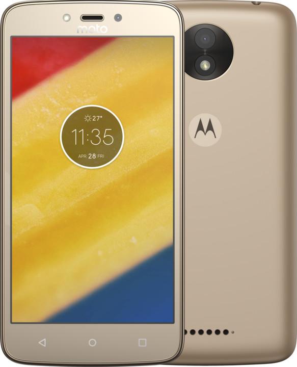 Motorola Moto C Plus - 16GB, Dual Sim, zlatá