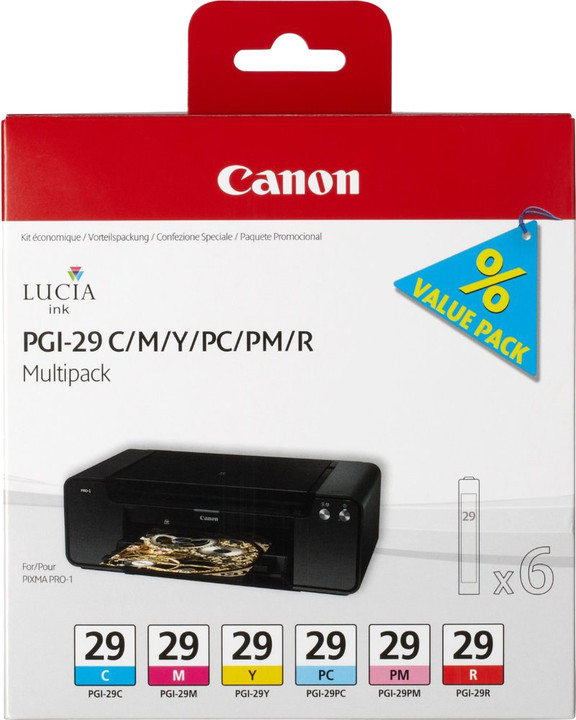 Canon PGI-29, CMY/ PC/ PM/ R, multipack