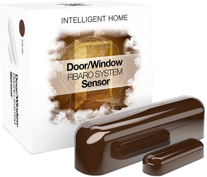 Fibaro Bateriový senzor na okna a dveře, tmavě hnědá