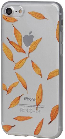 EPICO pružný plastový kryt pro iPhone 7 ORANGE LEAVES