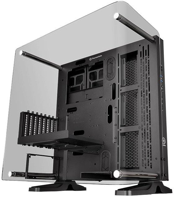 Thermaltake Core P3 TG Curved Edition Design, okno, černá