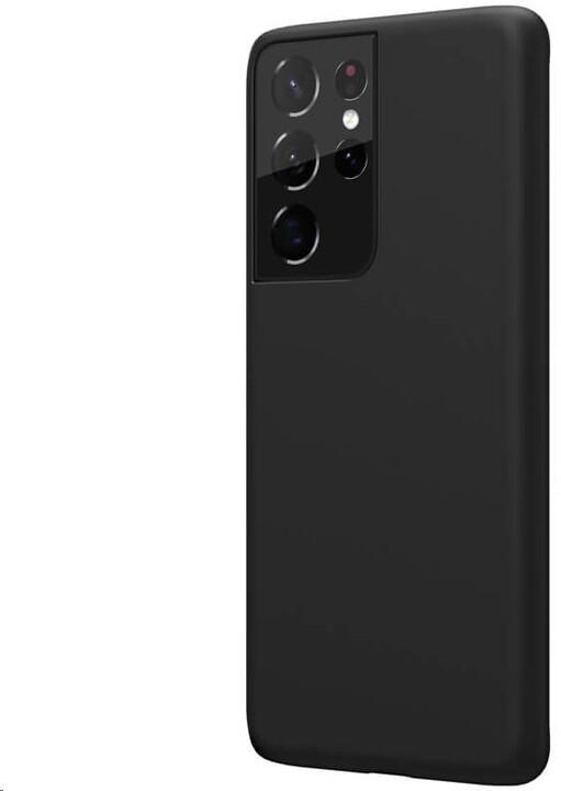Nillkin silikonové pouzdro Flex Pure Liquid pro Samsung Galaxy S21 Ultra, černá