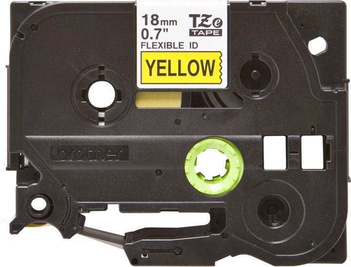 Brother páska - TZ-FX641, žlutá / černá, 18 mm