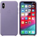 Apple kožený kryt na iPhone XS, lilac