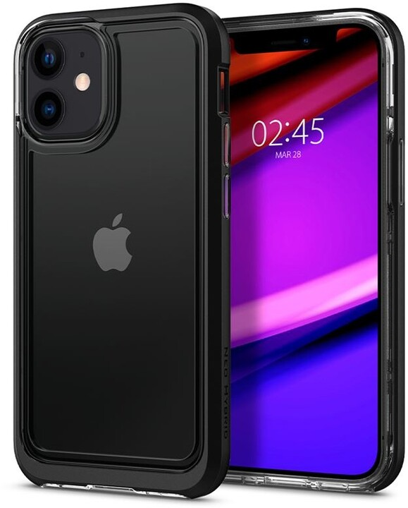 Spigen ochranný kryt Neo Hybrid Crystal pro iPhone 12 mini, černá