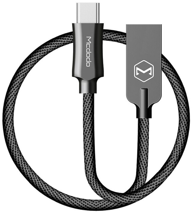 Mcdodo Knight datový kabel USB-C, 1m, černá