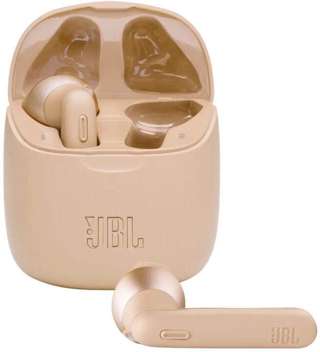 JBL Tune 225TWS, zlatá