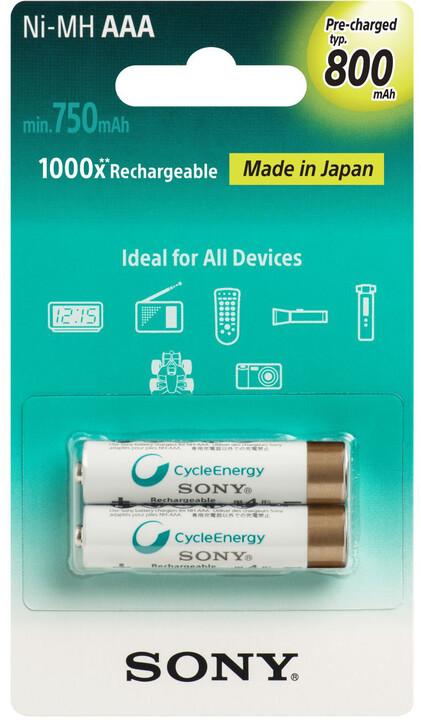 Sony NiMH nabíjecí baterie AAA / 800 mAh / 2 ks v blistru