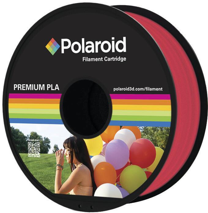 Polaroid 3D 1Kg Universal Premium PLA 1,75mm, transparentní červená