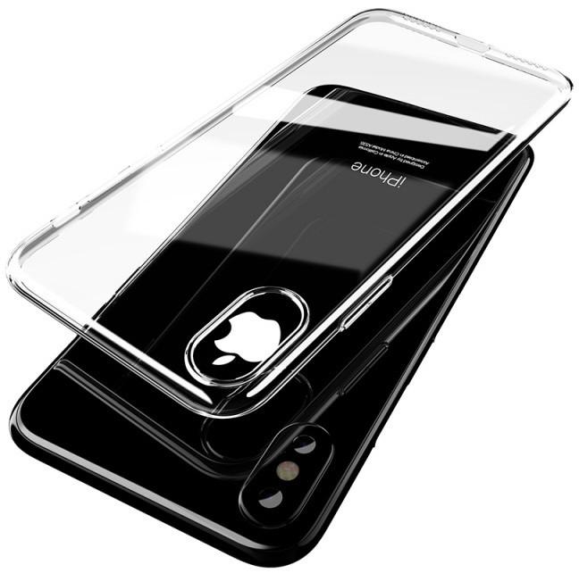 Mcdodo iPhone X Crystal Soft Slim Jacket Case (TPU), Clear