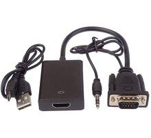 PremiumCord VGA+audio elektronický konvertor na rozhraní HDMI FULL HD 1080p - khcon-49