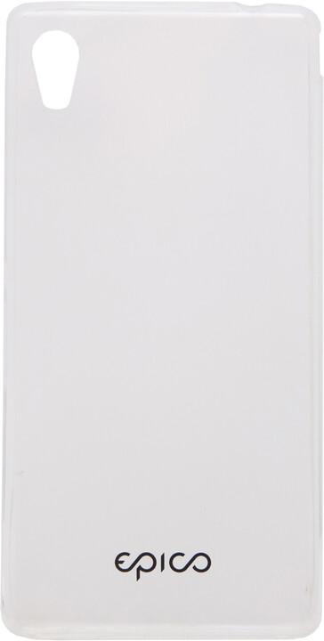 EPICO pružný plastový kryt pro SONY Xperia M4 Aqua RONNY GLOSS - čirá bílá