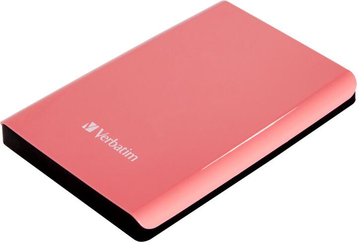 Verbatim Store'n'Go, USB 3.0 - 500GB, růžová